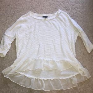 White high low sweater from American Eagle